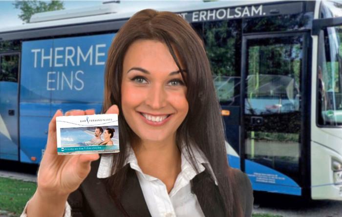 Freifahrt-Ticket für den öffentlichen Nahverkehr in Bad Füssing: die Bad Füssing-Karte ist der Schlüssel zu den vielfältigsten Attraktionen in Europas beliebtestem Heilbad.