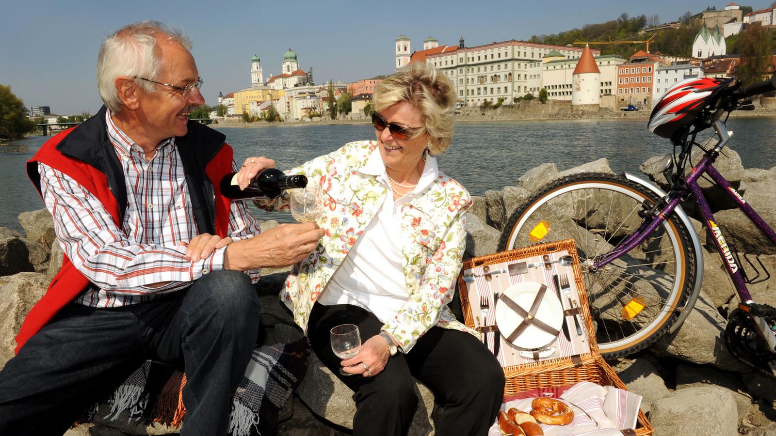 Picknick in Passau - ein Genuss nicht nur für Radfahrer