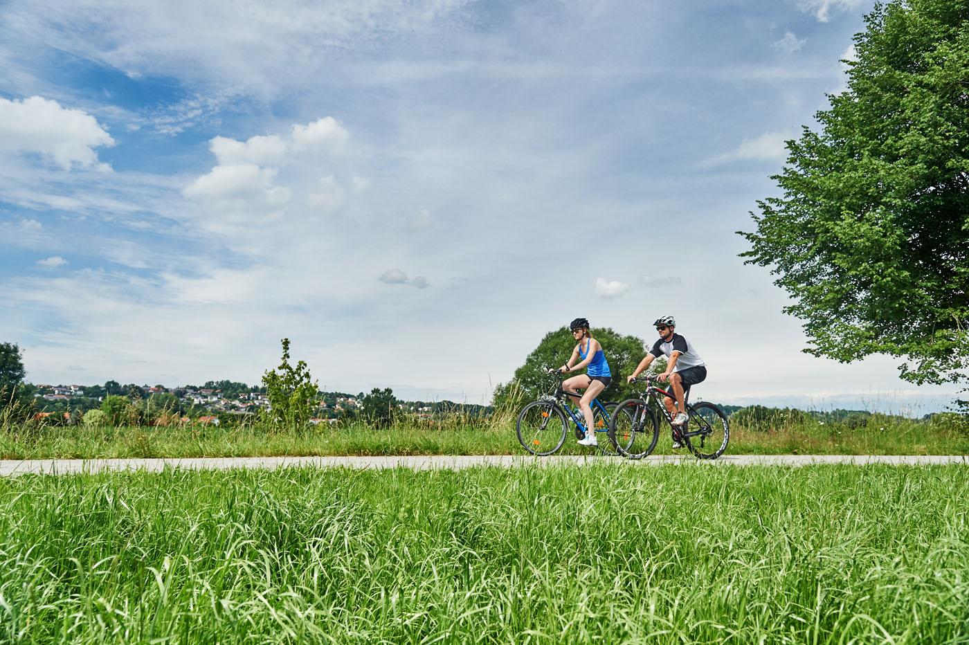 Unterwegs auf dem Rottal-Radweg in der Ferienregion Rottal-Inn