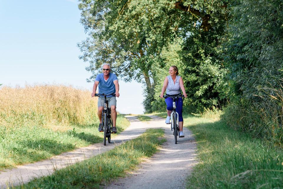 Die flache Landschaft rund um Bad Füssing mit 460 Kilometer bestens ausgebauten Rad- und Wanderwegen ist für einen unbeschwerten Rad-Aktivurlaub ideal.