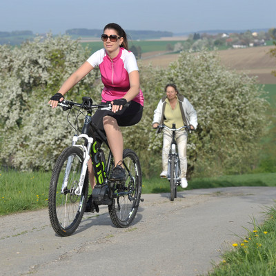 Unterwegs auf dem Apfel-Radl-Weg bei Ortenburg