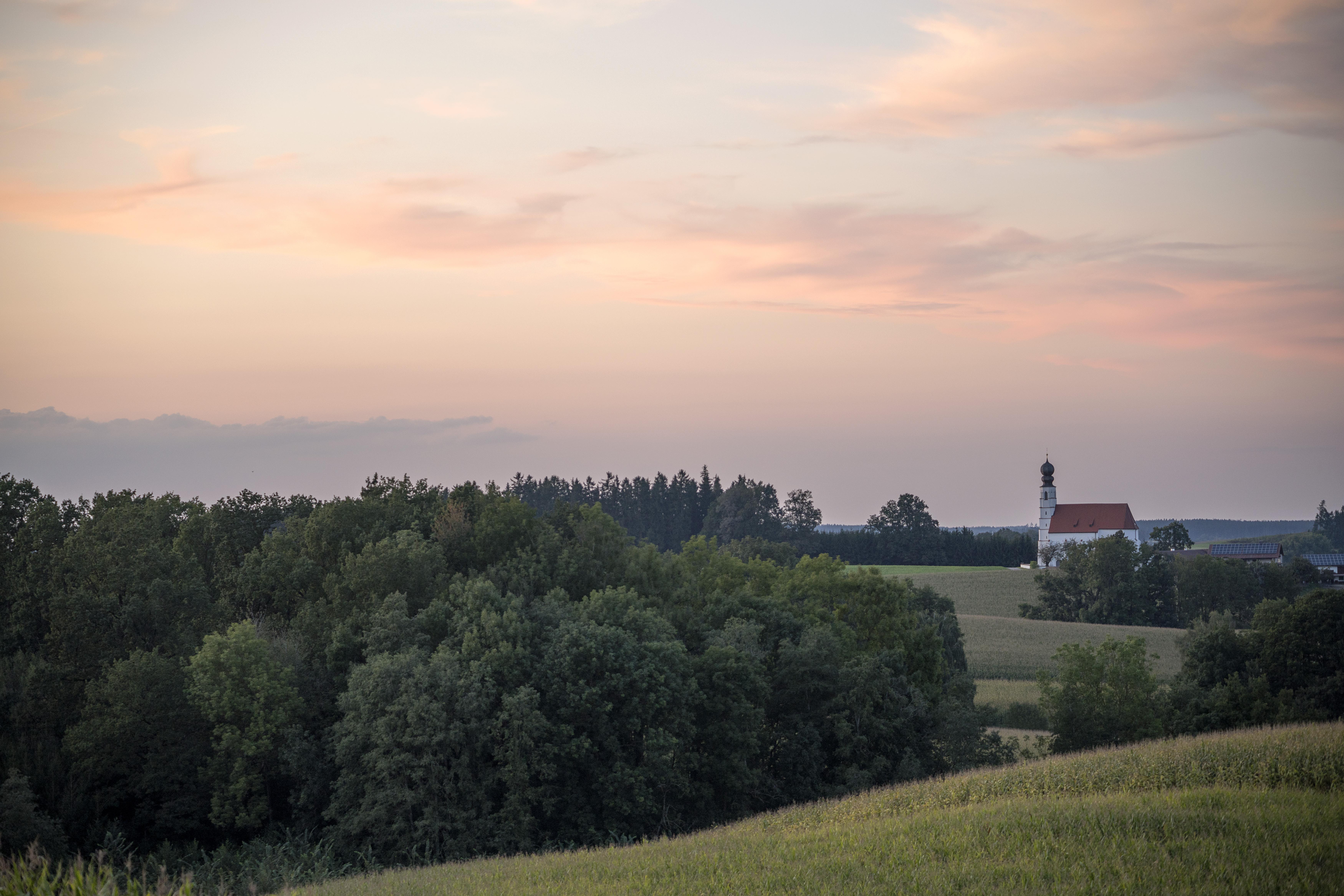 Das Tertiärhügelland bei Velden im Landkreis Landshut