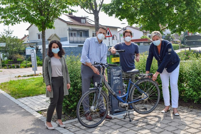 Mit der neuen Radservice-Station in Bad Gögging gibt es noch mehr Service für Radfahrer